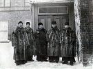 The Redemptorist Community at St. Patrick's Church, Quebec City, 1899. (L-R) Frs. Joseph Henning, rector; James Woods, Francis Delargy, Jeremiah McCarthy, Maurice Bonia.