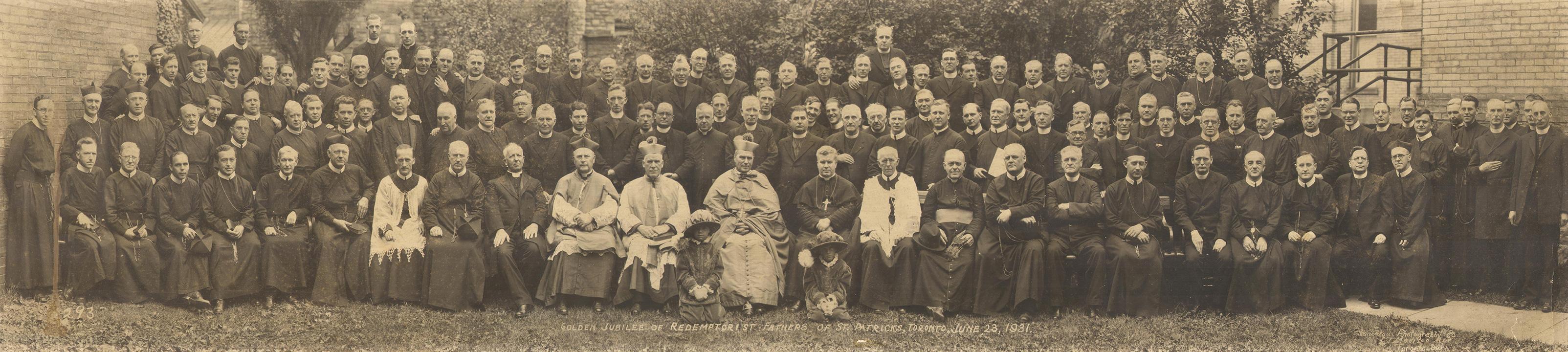 Golden Jubilee of Redemptorist Fathers of St. Patrick's Toronto. June 23, 1931.